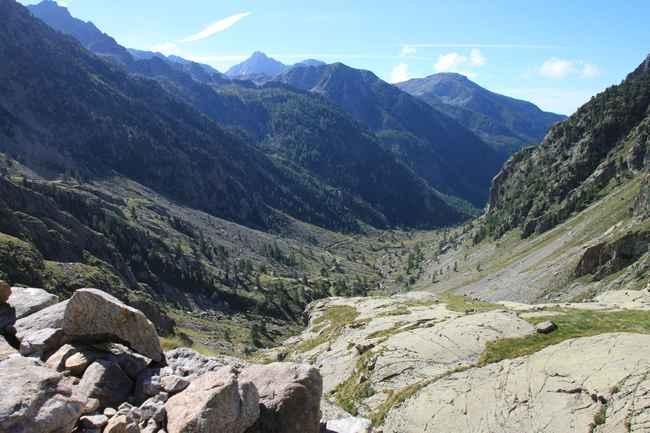 La vallée de la Gordolasque depuis le mur des italiens